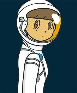 JINGART2021_5_Yuya-HASHIZUME_eyewater-ver.-space-suit-White2
